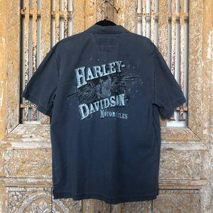Harley Davidson SHORT SLEEVE BUTTON DOWN SHIRT M